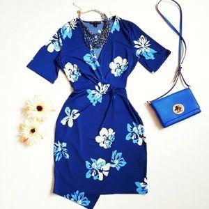 Banana Republic Floral Blue Dress